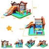 Costway Inflatable Bouncer Snow House Jump ClimbingSlide Ball Pit w/ tunnel & Blower - image 2 of 4