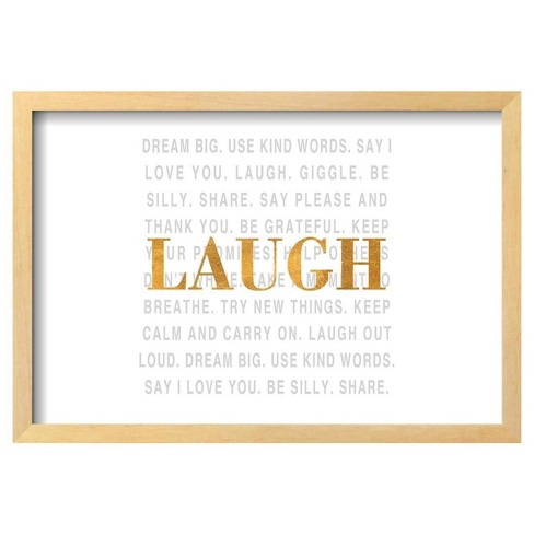 "Gold Love Type Ii (Laugh) By Sd Graphics Studio Framed Poster 19""X13"" - Art.Com - image 1 of 4"