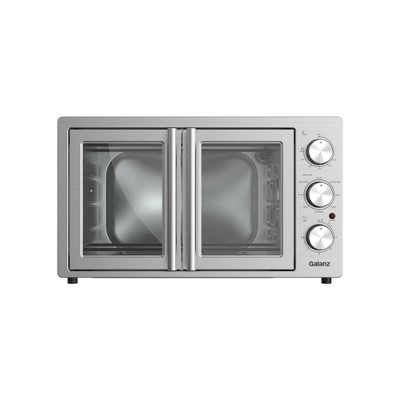 Galanz 1.5 cu ft 6-Slice French Door Toaster Oven with Air Fry - Stainless Steel