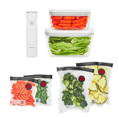 ZWILLING Fresh & Save Vacuum Sealer Machine Starter Set, Sous Vide Bags, Meal prep, Airtight Food Storage Containers