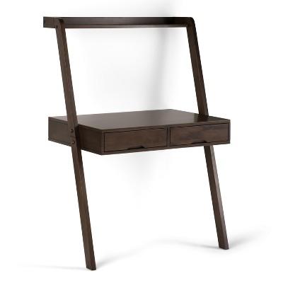 "36"" Darren Solid Wood Desk Warm Walnut - WyndenHall"