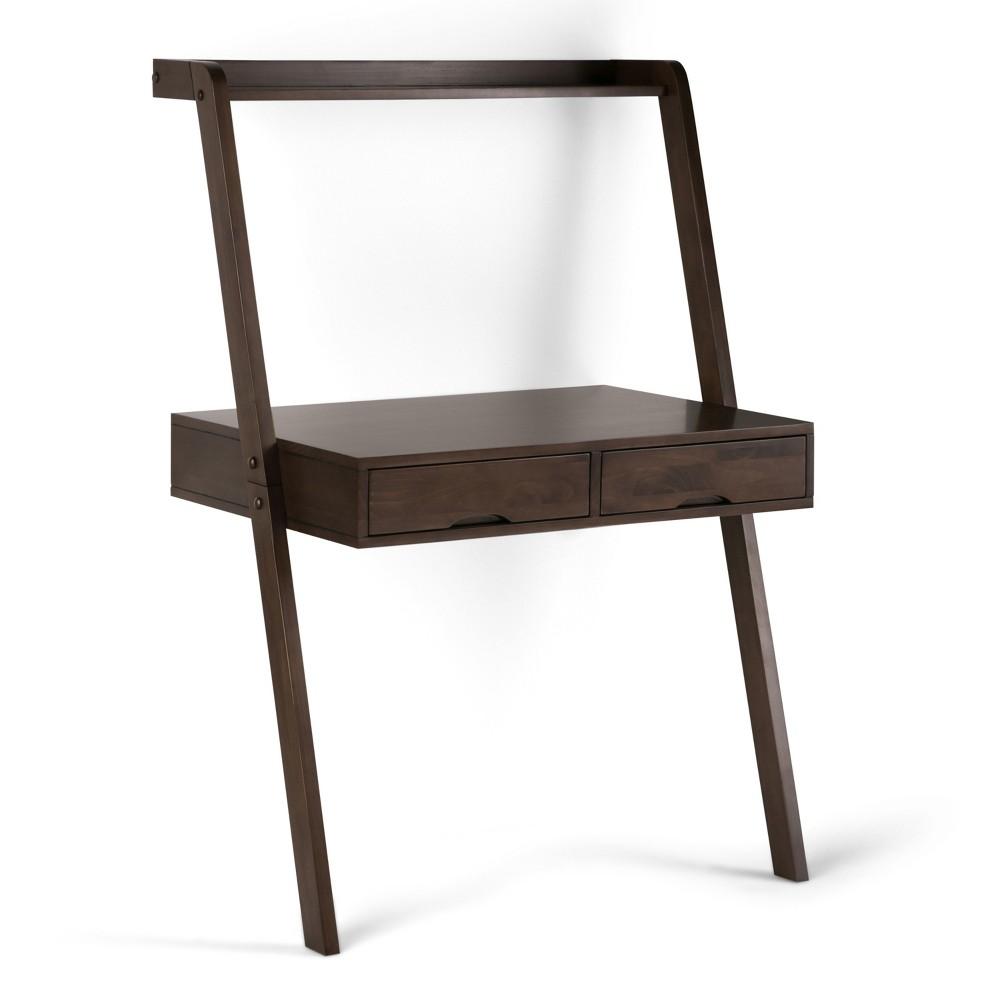 Darren Solid Wood Desk Warm Walnut (Brown) - Wyndenhall