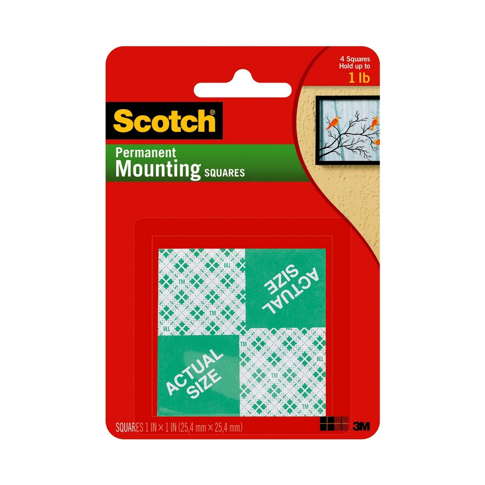 Image of Scotch 24ct Permanent Mounting Squares, White