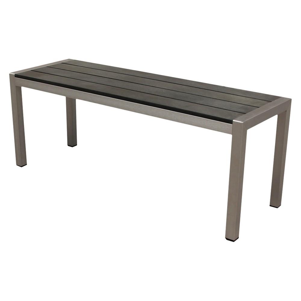 Boraam Fresca Polylumber Bench, Gray