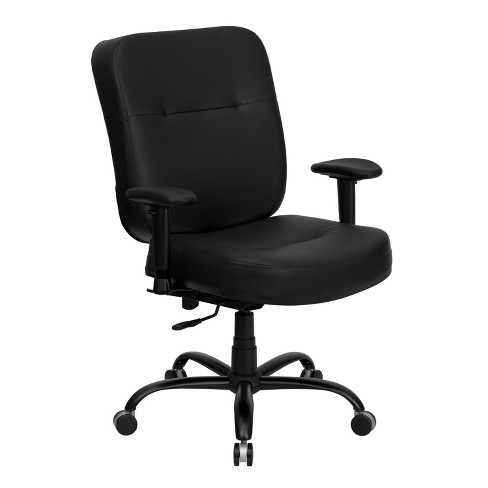 HERCULES Series 400 lb. Capacity Big & Tall Executive Swivel Office Chair Black Leather - Flash Furniture - image 1 of 4