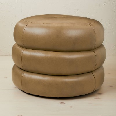Molise Faux Leather Pouf - Opalhouse™ designed with Jungalow™