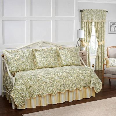 Paisley Verveine Quilt Set (Daybed) Green 5pc - Waverly