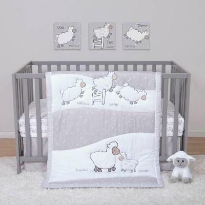 Sammy & Lou Crib Bedding Set - Sleepy Sheep 4pc