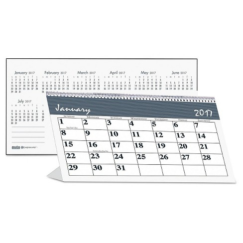 House of Doolittle™ Recycled Bar Harbor Desk Tent Monthly Calendar 7 x 4 1/4 2018 - image 1 of 3