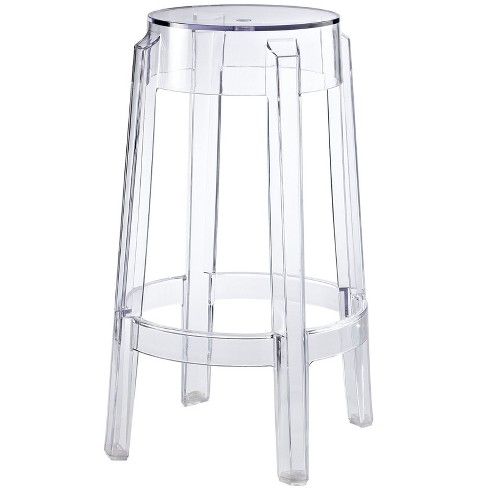 Casper Counter Stool Clear - Modway - image 1 of 5