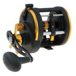 Penn SQL30LW Squall Levelwind Lightweight Saltwater Fish Trolling Fishing Reel, Black & Gold