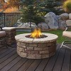 Sedona Round Gas Fire Table with Natural Gas Kit Beige - Real Flame - image 2 of 4