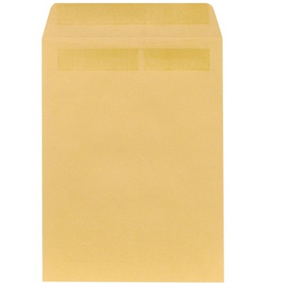 "MyOfficeInnovations Self Seal Catalog Envelopes 9""L x 12""H Brown 100/Box (534800/17104)"