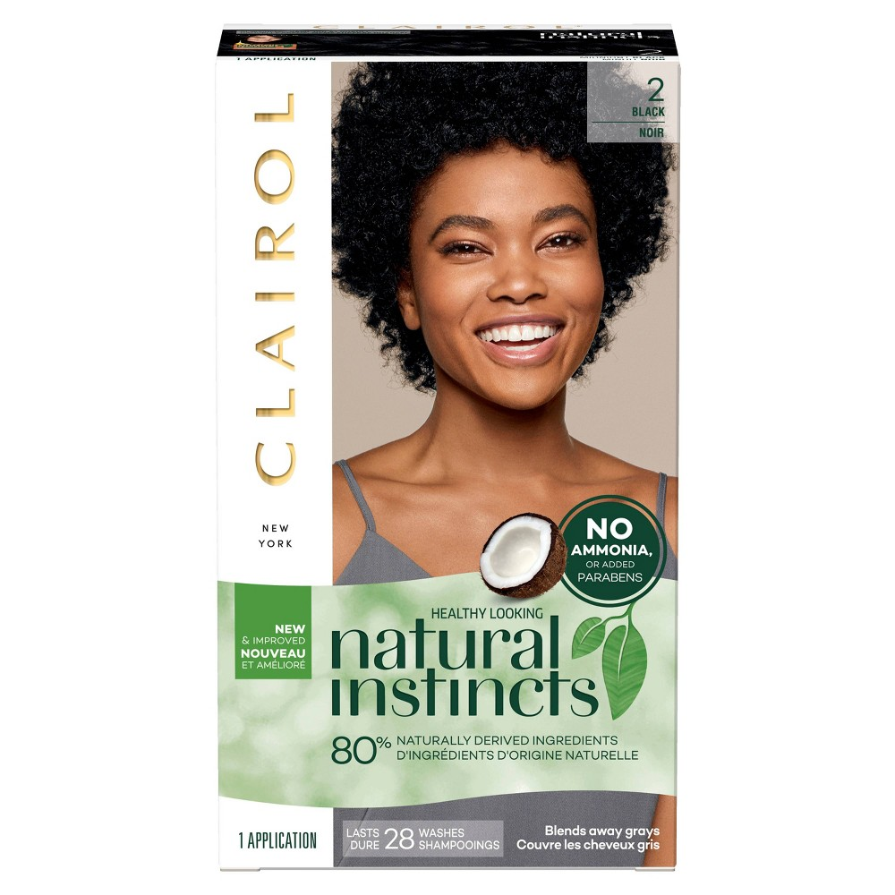 Image of Natural Instincts Clairol Non-Permanent Hair Color - 2 Black, Midnight - 1 Kit, 2 - Black