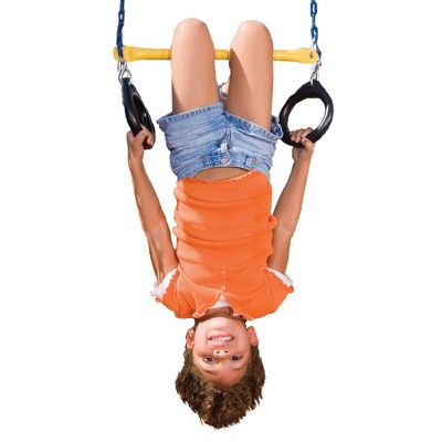 Swing-N-Slide Ring/Trapeze Combo Swing - Blue/Yellow