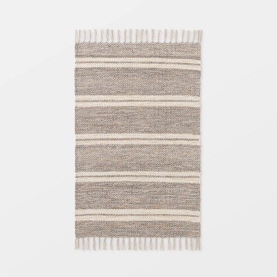 "2'1""x3'2"" Indoor/Outdoor Scatter Striped Rug Tan - Threshold™ designed by Studio McGee"