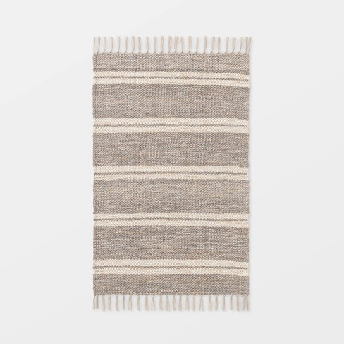 """2'1""""x3'2"""" Indoor/Outdoor Scatter Striped Rug Tan - Threshold™ designed by Studio McGee - image 1 of 4"""