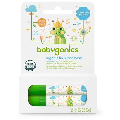 Babyganics Fragrance-Free Lip & Face Balm - 0.5oz (2 pk)