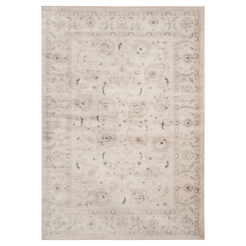 Bianca Vintage Area Rug - Light Gray / Ivory (8' X 10') - Safavieh