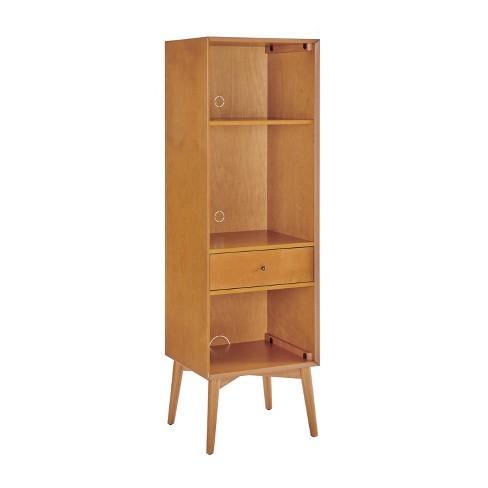 Landon Record Storage Bookcase Brown - Crosley - image 1 of 4