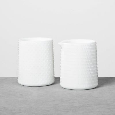 Milkglass Creamer & Sugar Set White - Hearth & Hand™ with Magnolia