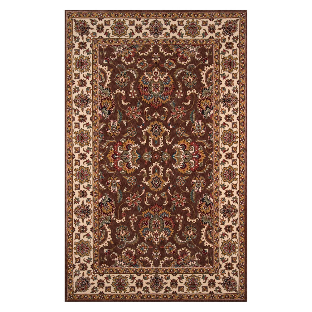 3'X5' Floral Loomed Accent Rug Cocoa (Brown) - Momeni