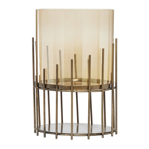12 X 8 75 Round Glass Metal Candle Holder Gold Venus Williams Collection Target