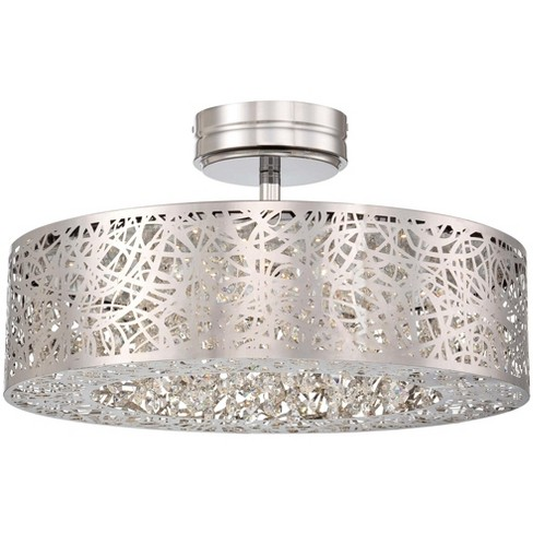 Kovacs P985 077 L Led 18 25 Wide Semi Flush Ceiling Fixture From The
