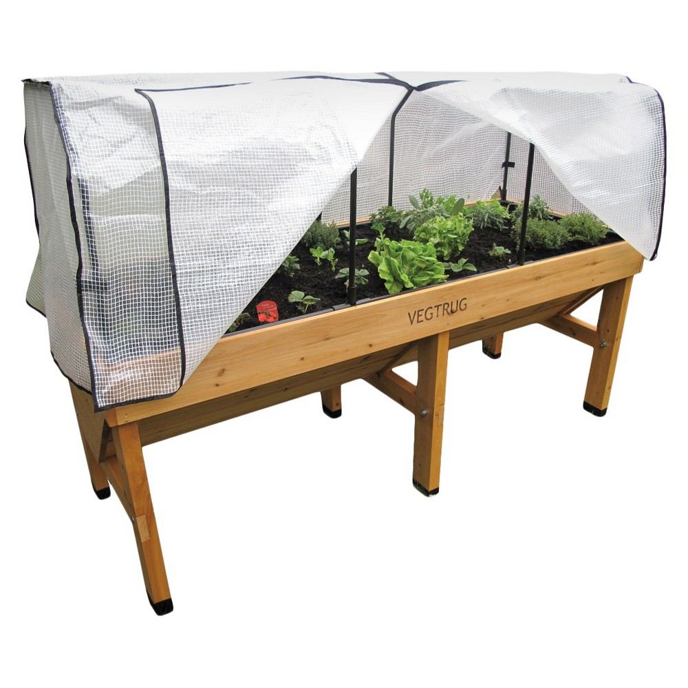 Image of Medium Greenhouse Frame and PE Cover - White - VegTrug