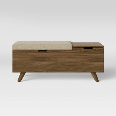 Meller Wood And Upholstered Bench - Project 62™