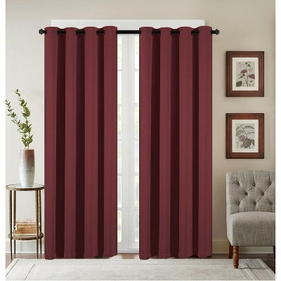 GoodGram 2 Pack: Basic Solid Colored Blackout Curtain Panels