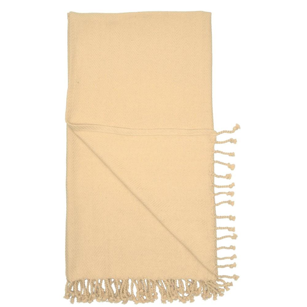 Image of Dot WovenThrow Blanket Beige - Nourison