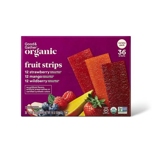Organic Fruit Strip Variety Pack - Strawberry, Mango, Wildberry - 18oz/36ct - Good & Gather™ - image 1 of 4