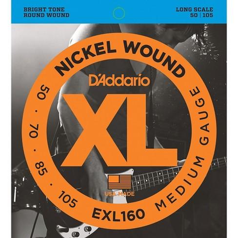D'Addario EXL160 Gauge Nickel Wound Electric Bass Strings - image 1 of 4