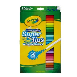 Crayola® Supertips Markers Washable 50ct