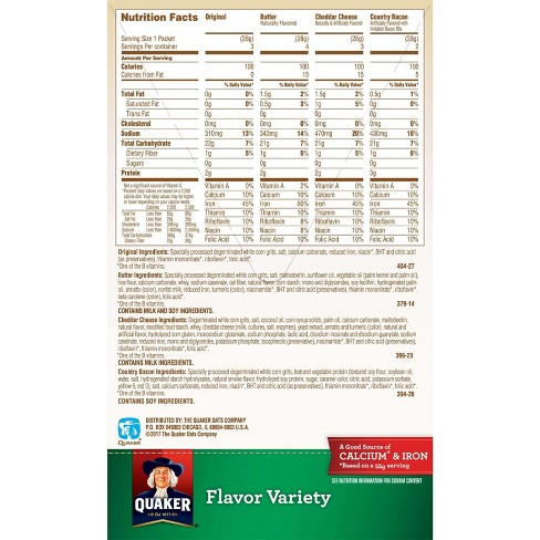 Quaker Instant Grits Flavor Variety - 12ct