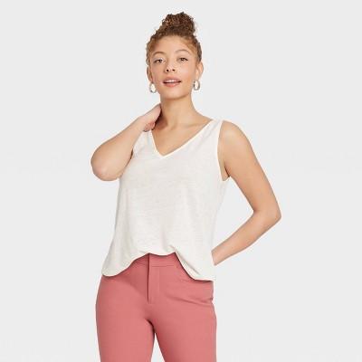 Women's Linen Tank Top - A New Day™
