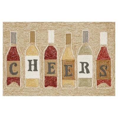 Neutral Cheers Kitchen Rug (24 X36 )- Liora Manne