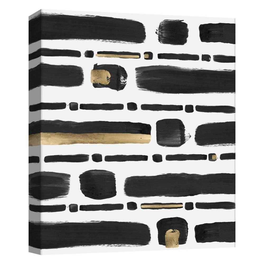 Black And Gold Brushstrokes Decorative Canvas Wall Art 11