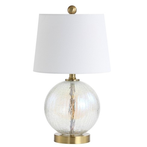 """Riglan Table Lamp Clear/Gold 10""""x10"""" (Includes Energy Efficient Light Bulb) - Safavieh - image 1 of 3"""