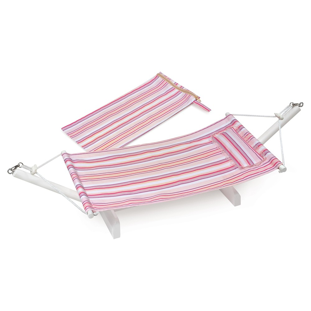 Badger Basket Portable Doll Hammock with Travel Bag - Multi/Stripe