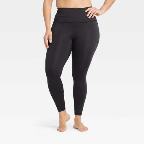 Women's Contour Curvy High-Waisted Leggings with Power Waist - All in Motion™ Black - image 1 of 4