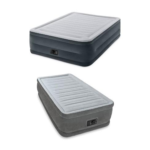 Intex Dura-Beam Queen Air Bed w/ Built-In Pump + Twin Air bed w/ Built-In Pump - image 1 of 4