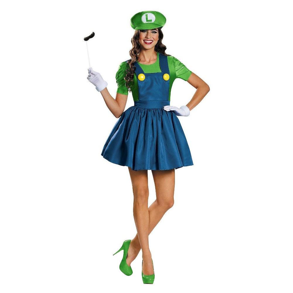 Women's Super Mario: Luigi Skirt Costume - Large, Green