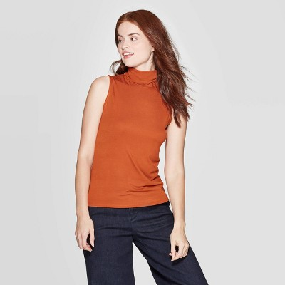 Women's Slim Fit Sleeveless Turtleneck Sweatshirt   A New Day by A New Day