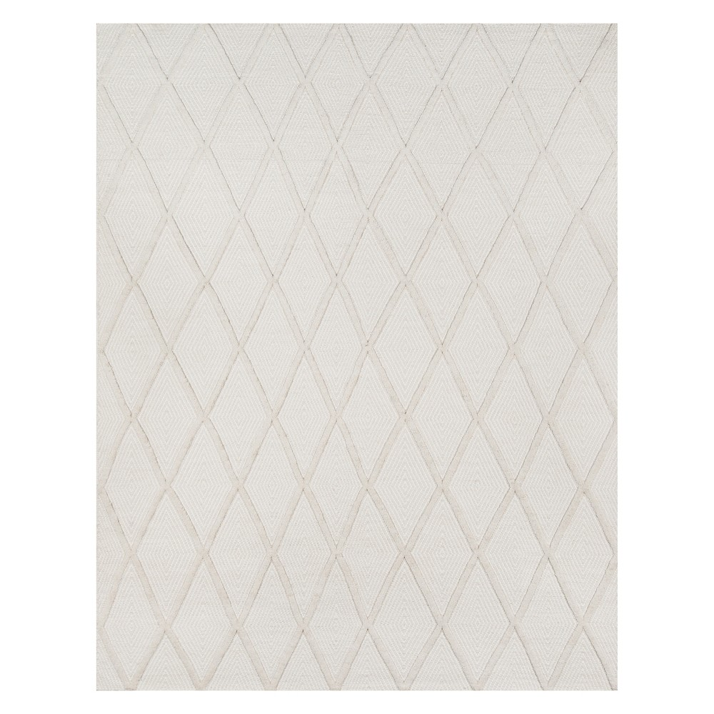 5'X8' Diamond Woven Area Rug Beige - Erin Gates By Momeni