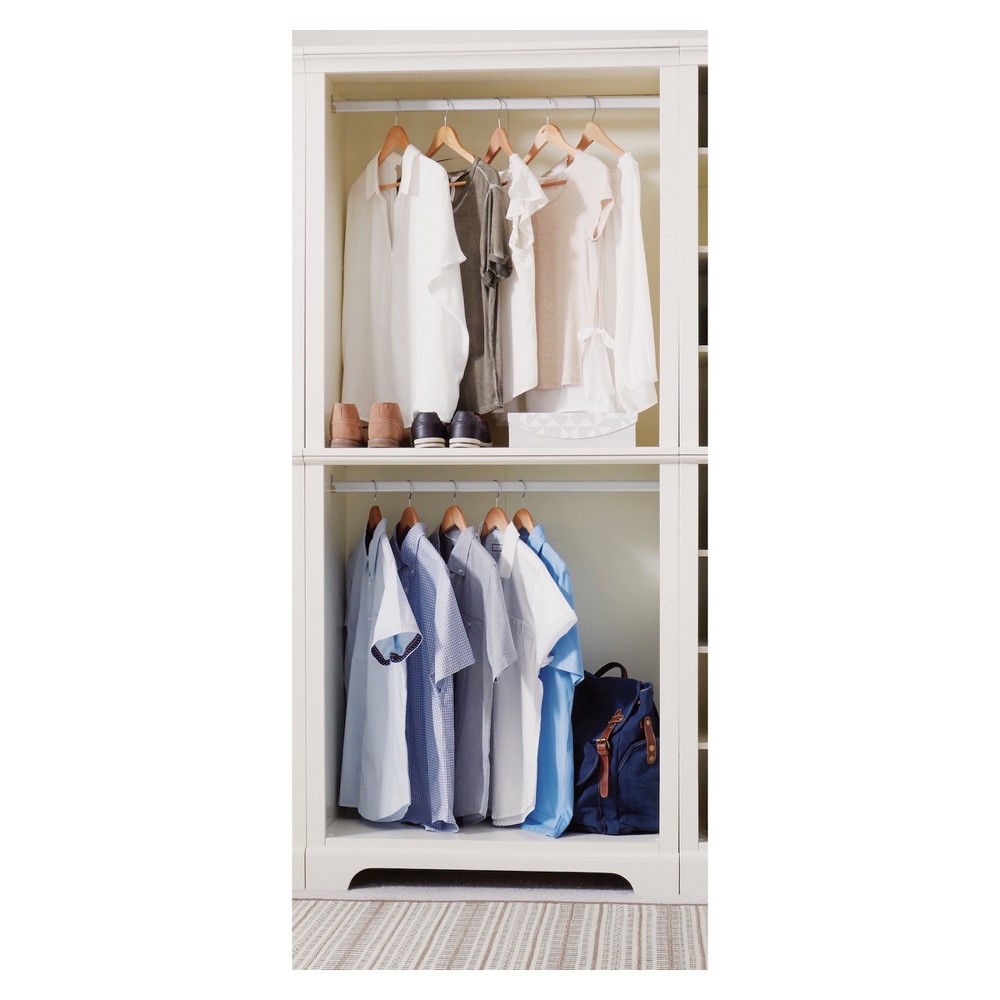 Naples Hanging Closet Wall Unit - Cream (Ivory)/ Off White - Home Styles