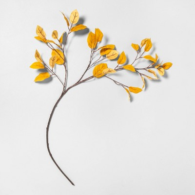 """46"""" Faux Golden Aspen Leaves Stem - Hearth & Hand™ with Magnolia"""