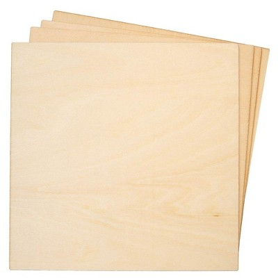 8-Pack Basswood Plywood Thin Sheets for Wood Burning, Laser Cutting, 1/8 X 6 inches