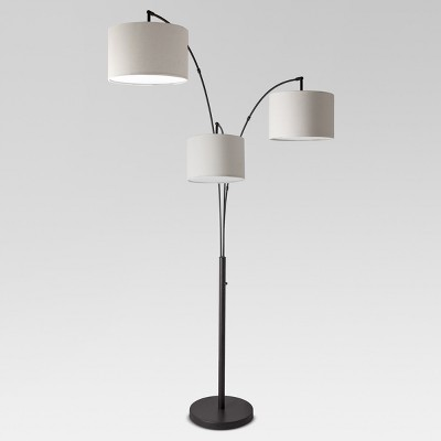 Avenal Shaded Arc Floor Lamp Black (Lamp Only)- Project 62™